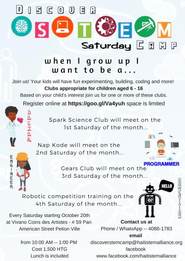 Saturday Camp Flyer